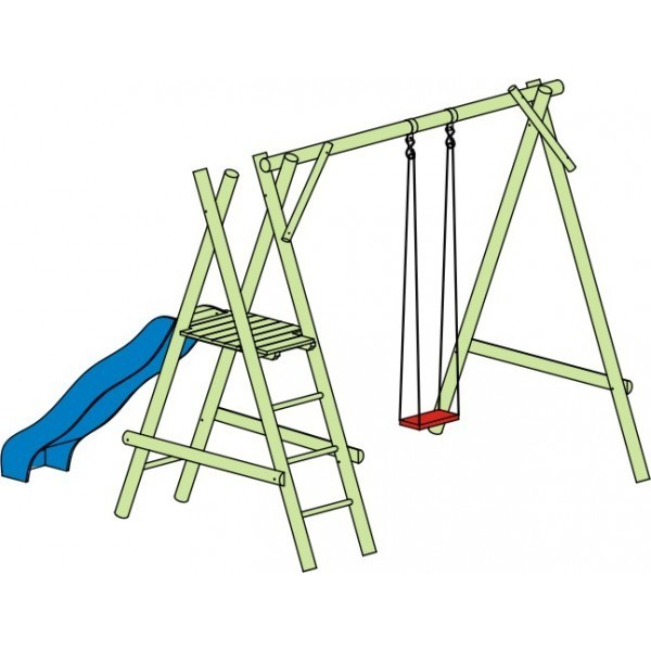 Hustawki Ogrodowe Dla Dzieci Ze Zjezdzalnia : Huśtawka Mikołaj H220cm x D300cm (bez zjeżdżalni)