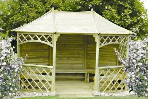 Drewniana altana ogrodowa - Poszerzona