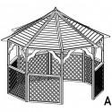 Altanka drewniana - Gerda zestaw A