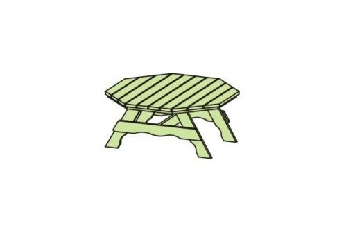 Stół do altany ośmiokątnej 50300