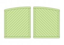 Brama z Łukiem 180x300 rama 44x88mm (2 skrzydła)