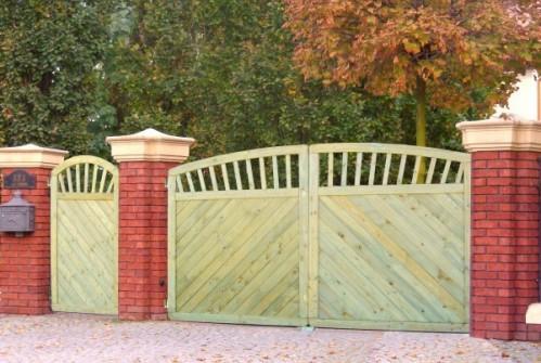 Brama Paula z Łukiem 180x300 rama 44x88mm (2 skrzydła)
