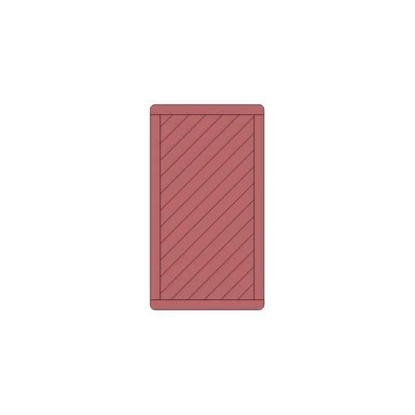 Furtka Prosta (modrzew) 180x100 rama 44x88mm