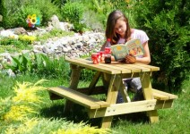 Stół piknikowy dla dzieci - blat 90x50cm