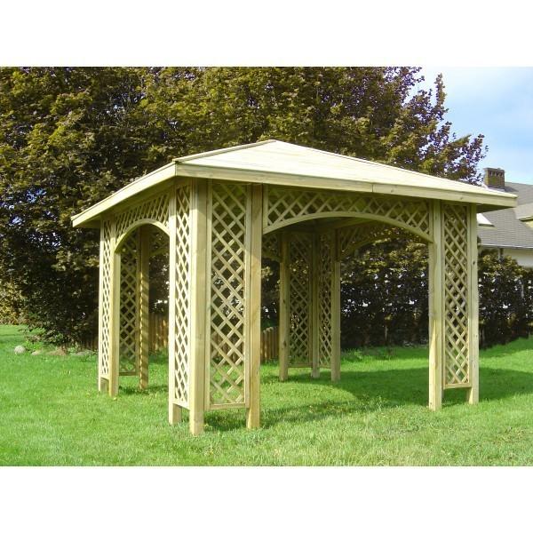 Altana Ogrodowa 4 Kątna Z Drewnianym Dachem Produktyogrodowepl