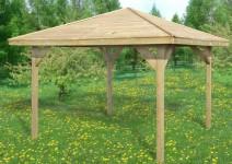 Altana 4-kątna z drewnianym dachem (słupki 9x9cm) - Cora