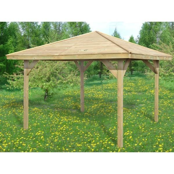 Drewniana wiata ogrodowa - Cora