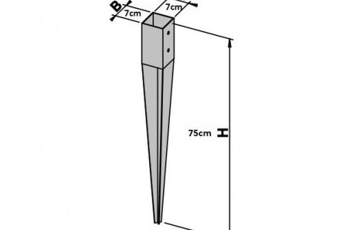 Metalowa kotwa do słupka (wbijana)